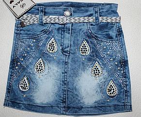 Джинсовая юбка оптом Турция  5,6 лет
