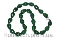 Зеленое ожерелье из агата