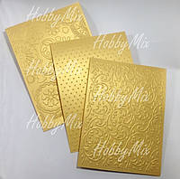 Заготовки для открыток 3 шт. _золотистый, фото 1