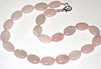 Бусы женские камень розовый кварц