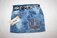 Джинсовая юбка оптом Турция  5,6,7,8 лет