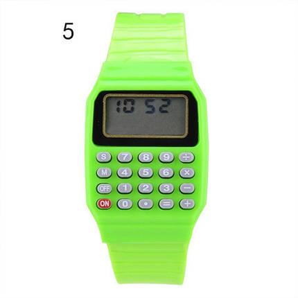 Детские наручные Часы-Калькулятор зеленые, фото 2