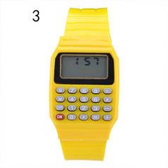 Дитячі наручні Годинники-Калькулятор жовті
