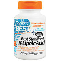 R-липоевая кислота, Doctor's Best, 200 мг, 60 кап.