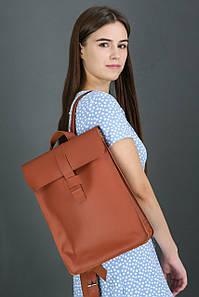Жіночий шкіряний рюкзак Сідней, натуральна шкіра Grand колір коричневый, оттенок Коньяк