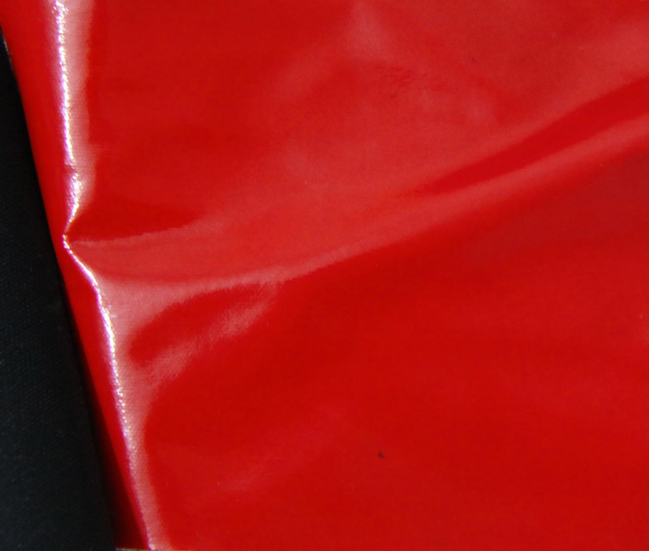 Ткань лак красная