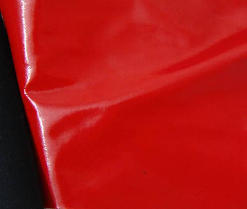 Ткань лак красная, фото 2