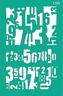 Трафарет фоновый самоклеющийся 13*20 см, №1750 Цифры