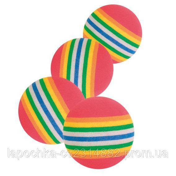 Игрушка для кошек Trixie Мяч радужный, вспененная резина Ø 3,5 см, набор 4 шт.