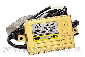 Блок розжига A8 SMART +80% Lightning Efficiency CAN-BUS AC Slim 55W / балласт для ксенона