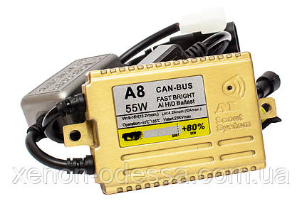 Блок розжига A8 SMART +80% Lightning Efficiency CAN-BUS AC Slim 55W / балласт для ксенона, фото 2
