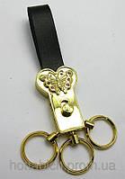 Брелок для ключей кожаный со стразами