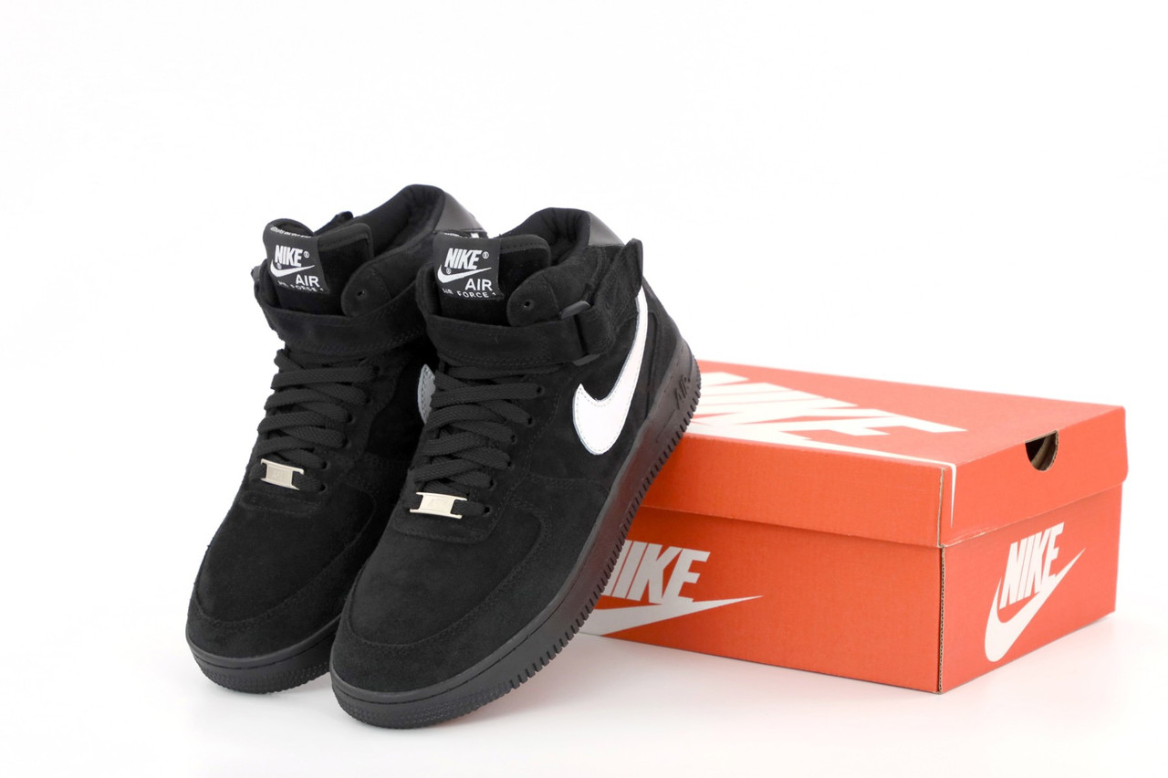 Зимние кроссовки Nike Air Force с мехом, мужские кроссовки. ТОП Реплика ААА класса.
