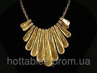 Ожерелье золотистое Водопад