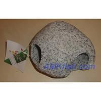 KW Zone декорация для аквариума Камень круглый светло-серый L