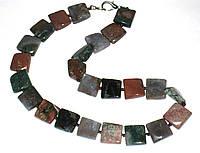 Ожерелье камень натуральная яшма