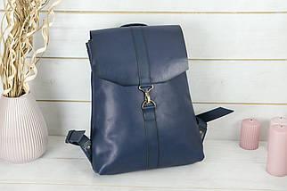 Женский кожаный Рюкзак Монако, натуральная кожа итальянский Краст цвет Синий, фото 2