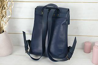 Женский кожаный Рюкзак Монако, натуральная кожа итальянский Краст цвет Синий, фото 3