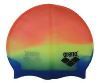 Шапочка для плавания «юниор» цвет оранжевый/желтый/синий