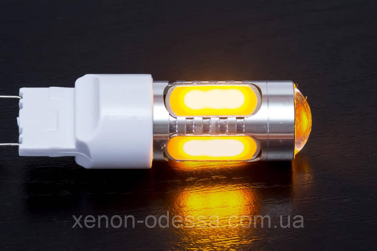 Яркий светодиод 7.5W T20 COB LED Yellow / Желтый (поворот)
