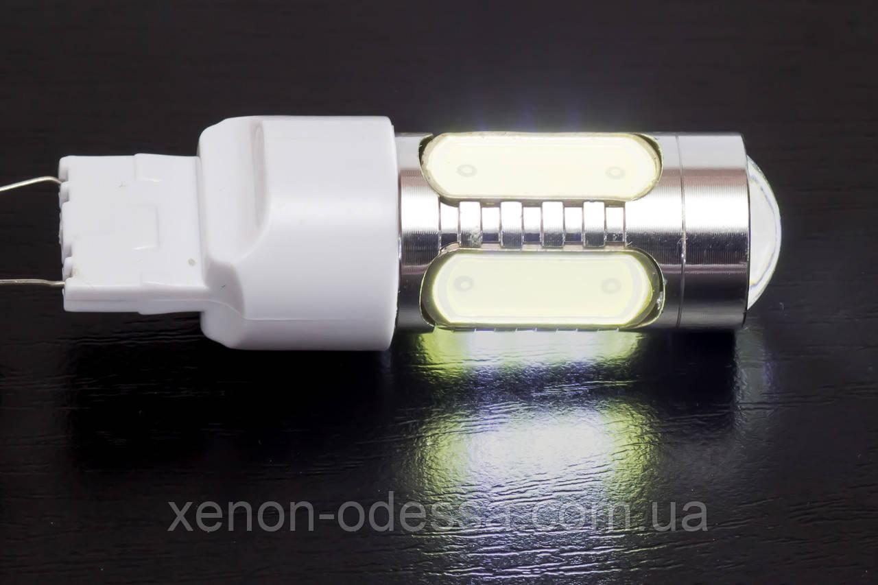 Яркий светодиод 7.5W T20 COB LED White / Белый (задний ход и подсветка поворотов)
