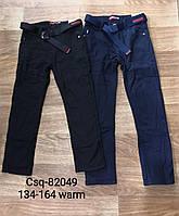 Котоновые брюки для мальчиков на флисе Seagull 134-164 p.p., фото 1