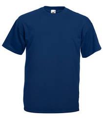 Мужская футболка однотонная темно синяя 036-32