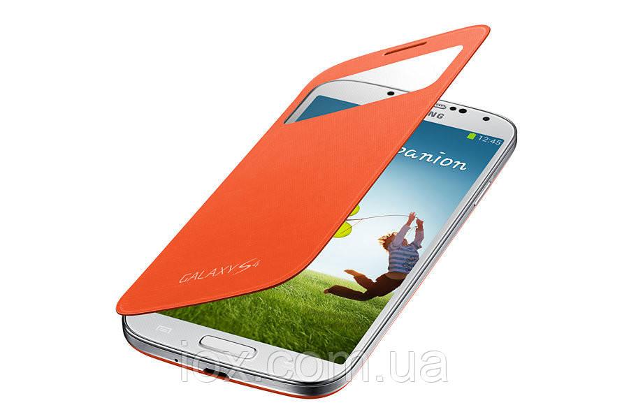 Оранжевый чехол-книжка для Samsung Galaxy S4 I9500