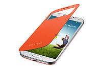 Оранжевый чехол-книжка для Samsung Galaxy S4 I9500, фото 1