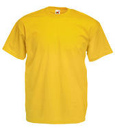 Мужская футболка однотонная желтая 036-34