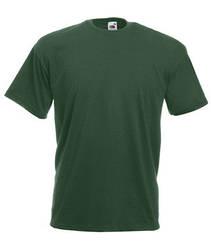 Мужская футболка однотонная темно-зеленая 036-38