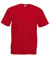 Мужская футболка однотонная красная 036-40