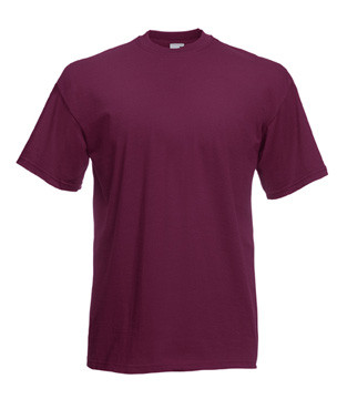 Чоловіча футболка однотонна бордова 036-41