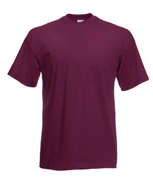 Мужская футболка однотонная бордовая 036-41