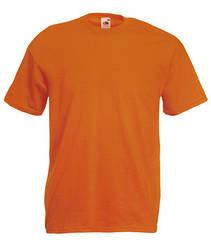 Мужская футболка однотонная оранжевая 036-44
