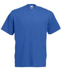 Мужская футболка однотонная синяя 036-51