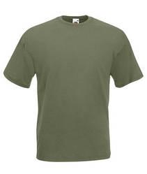 Мужская футболка однотонная оливковая 036-59