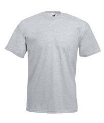Мужская футболка однотонная светло-серая 036-94