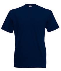 Мужская футболка однотонная темно синяя 036-AZ