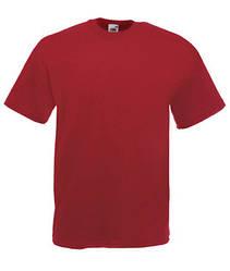 Мужская футболка однотонная темно красная 036-BX