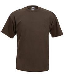 Мужская футболка однотонная коричневая 036-CQ