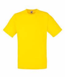 Мужская футболка однотонная желтая 036-K2