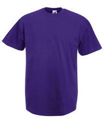 Мужская футболка однотонная фиолетовая 036-PE