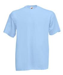 Мужская футболка однотонная голубая 036-YT