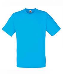 Мужская футболка однотонная бирюзовая 036-ZU