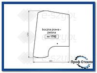 Стекло Fermec 750 760 860 865 960 965 od 1998 - Правая сторона 6099910M1