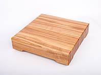 Кухонная доска для рубки, разделки и отбивания мяса из ясеня 40х40х8 см