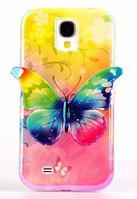 Силиконовый чехол Зеленая бабочка для Samsung Galaxy S4 i9500