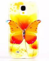 Силиконовый чехол Желтая бабочка для Samsung Galaxy S4 i9500