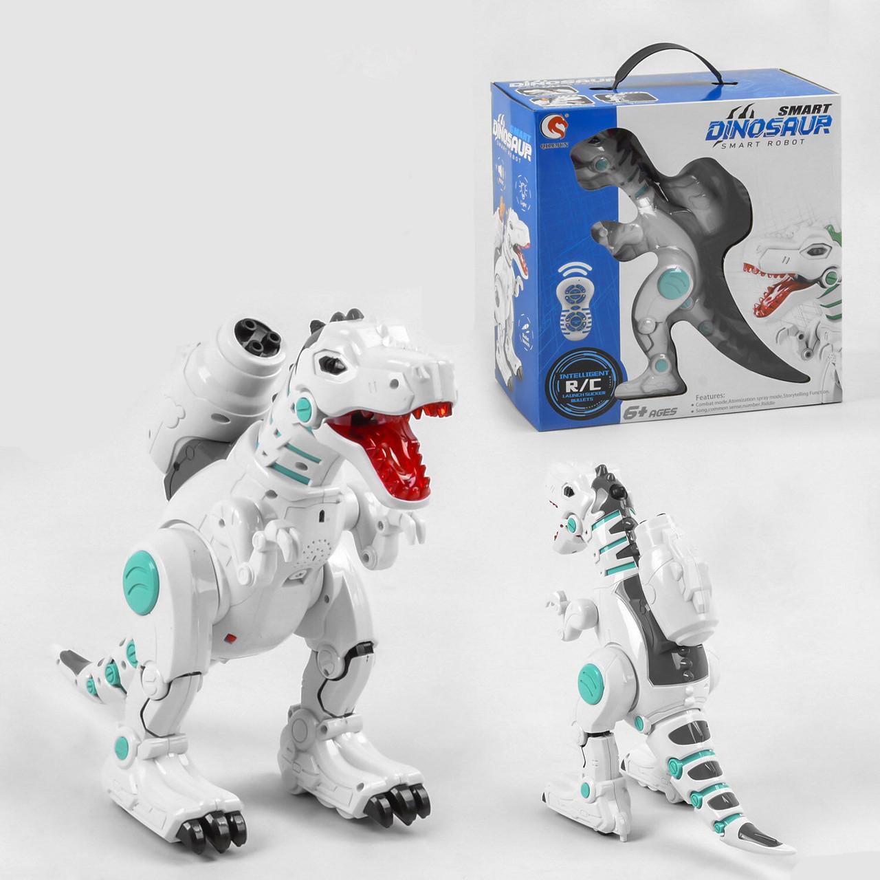 """Дитячий робот-динозавр """"Smart Dinosaur"""", підсвічування очей, 12 функцій, стріляє, ходить, танцює"""